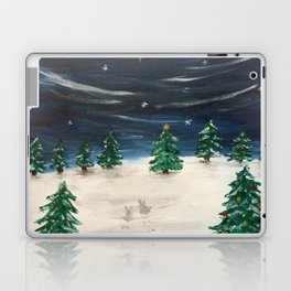 Christmas Snowy Winter Landscape Laptop & iPad Skin