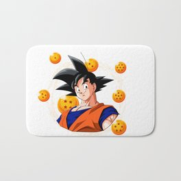 Goku Dragon Ball Super balls symbol Bath Mat
