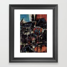 disquiet twenty five (I'm absent from the place I ought to be) Framed Art Print