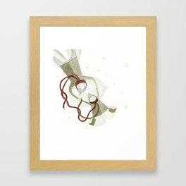 Sur les traces de Noël…  Framed Art Print