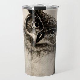 Owl Sketch Travel Mug