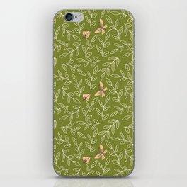 Leaves & Moths iPhone Skin