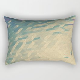 Only Colored Triangles Rectangular Pillow