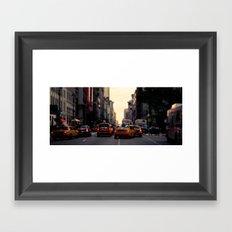 NYC Taxi | cinamtic Framed Art Print