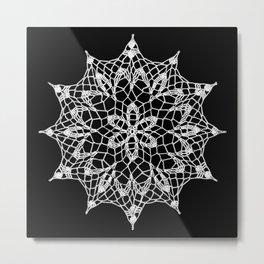 Cosmos Doily Metal Print