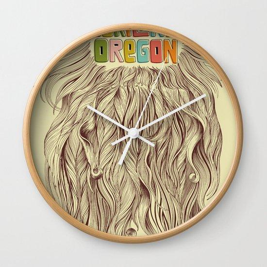 Portland = Beards Wall Clock