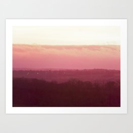 Sunset in Pink bywhacky Art Print