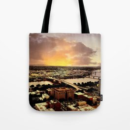 Downtown Portland Oregon Bridge View Tote Bag