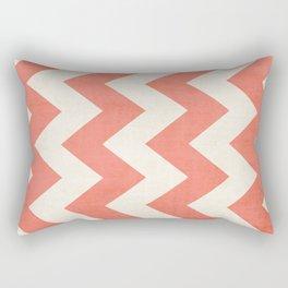 Vintage Coral Chevron Rectangular Pillow