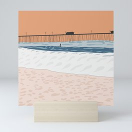 Sunset Surfer Mini Art Print