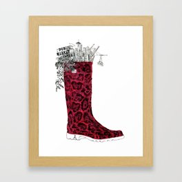 Seattle Boot Framed Art Print