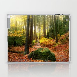 Path Through The Trees - Landscape Nature Photography Laptop & iPad Skin