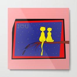 Love and Cats . Artlove Metal Print