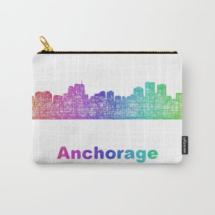 Rainbow Anchorage skyline Carry-All Pouch