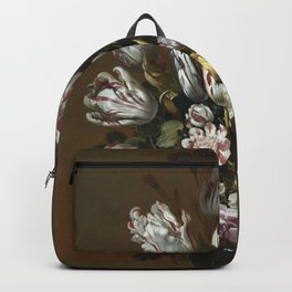 Hans Bollongier - Still Life With Flowers Backpack