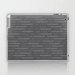 Gray Photography Text Keywords Marketing Concept Laptop & iPad Skin