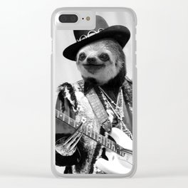 Rockstar Sloth #2 Clear iPhone Case