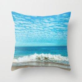 Waves on Beach Throw Pillow