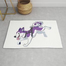 Purple Husky Running Rug