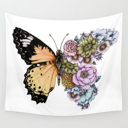 Butterfly in Bloom II Wall Tapestry