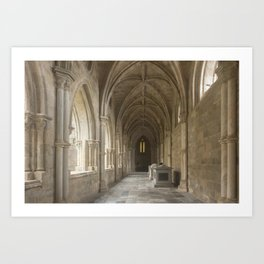 Cloisters of Évora Cathedral Art Print