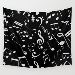 Musical Notes 20 Wall Tapestry
