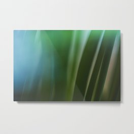 Vintage looking homemade photo of green grass. Metal Print