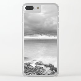 Clevedon Sunset Clear iPhone Case