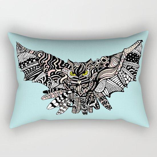 Dragon Owl (Color) Rectangular Pillow
