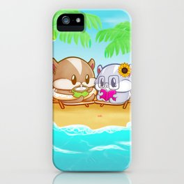 Summertime with the Hamhams iPhone Case