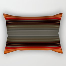Sunset Orange and Grey Stripes Rectangular Pillow