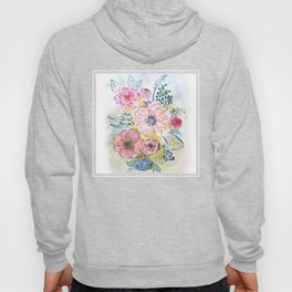 Watercolor hand paint floral design Hoody