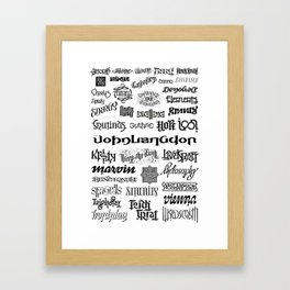 "Ambigram ""Wall"" Framed Art Print"