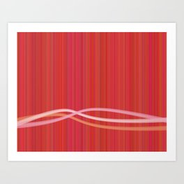 Strawberry Waves Art Print