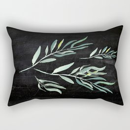 Eucalyptus Branches On Chalkboard II Rectangular Pillow