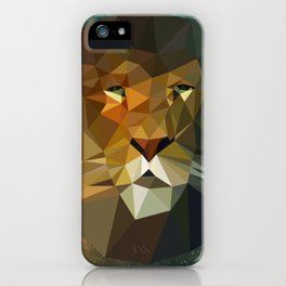 Low Poly Lion iPhone Case