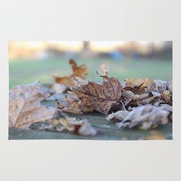 Autumn Fall Crunchy Leaves Rug