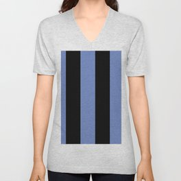 5th Avenue Stripe No. 4 in Lapis and Black Onyx Unisex V-Neck