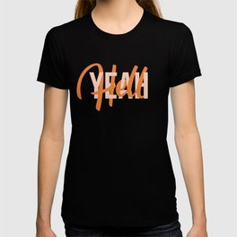 Hell yeah interlaced lettering T-shirt