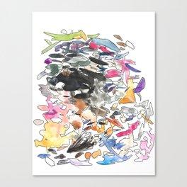 coloured splotches Canvas Print