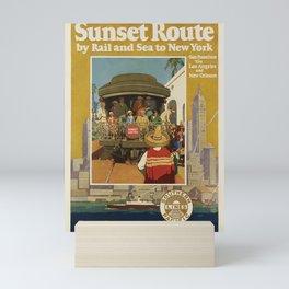manifesto Sunset Route Mini Art Print