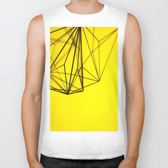Yellow shape Biker Tank