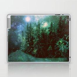 Galaxy Winter Forest Green Laptop & iPad Skin