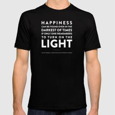 Light - Quotable Series Mens Fitted Tee Black MEDIUM