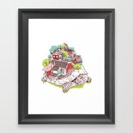Tur-Town Framed Art Print