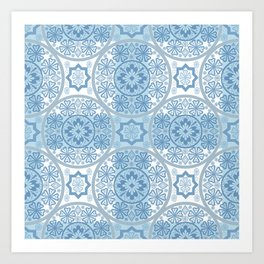 Blue lace Art Print