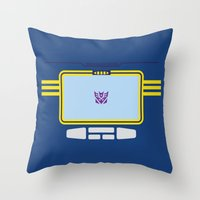 transformers Throw Pillows featuring Soundwave Transformers Minimalist by Jamesy