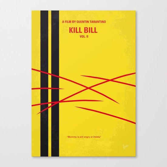 No049 My Kill Bill - part 2 minimal movie poster Canvas Print