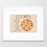 cookies Framed Art Prints featuring Cookies by Mim sh.
