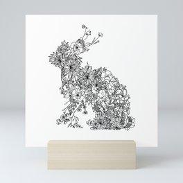 FLORAL RABBIT Mini Art Print